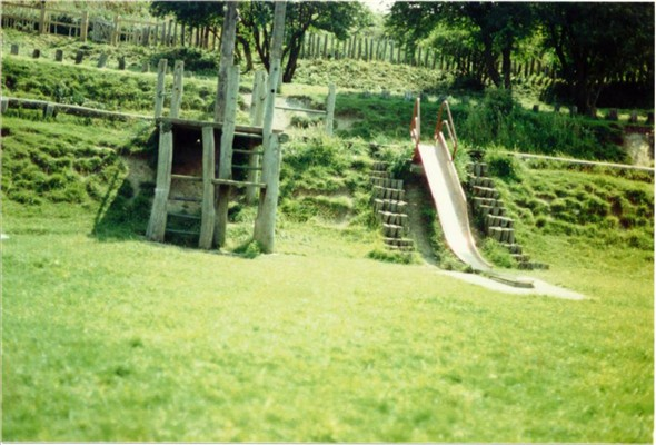 Photo:PLAY AREA BEHIND THE FOOTBALL PITCH 1987