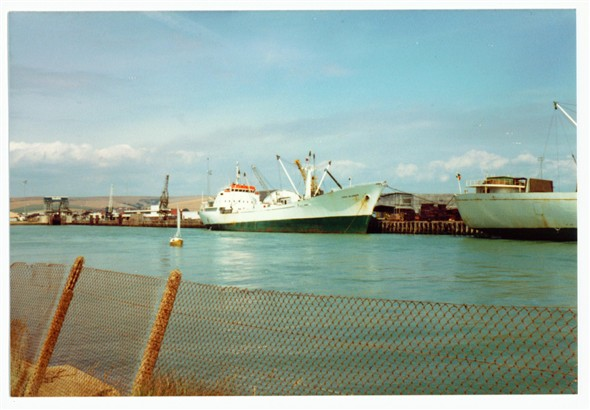 Photo:East Quay Cargo Ships - 1980