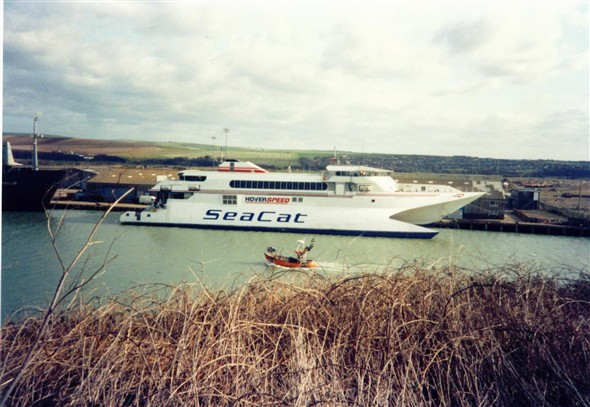Photo:Seacat leaving the Harbour - c1996