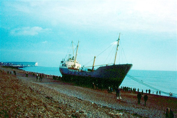 Photo:MV Walter Richter - looking toward Seaford