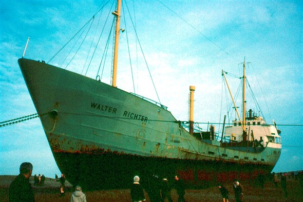 Photo:MV Walter Richter - close up view of the ship ashore