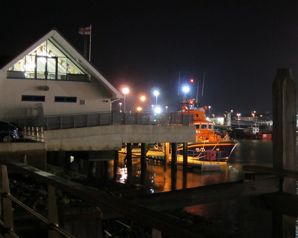 Photo:TheLifeboat and RNLI Station at night