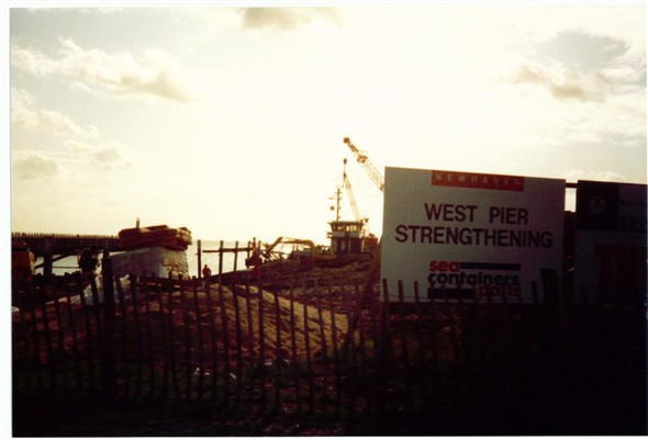 Photo:West pier strengthening - 1995