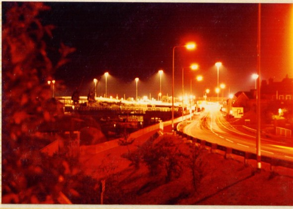 Photo:Northway at night in 1981
