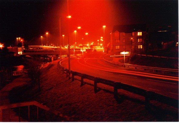 Photo:Northway at night in 1985
