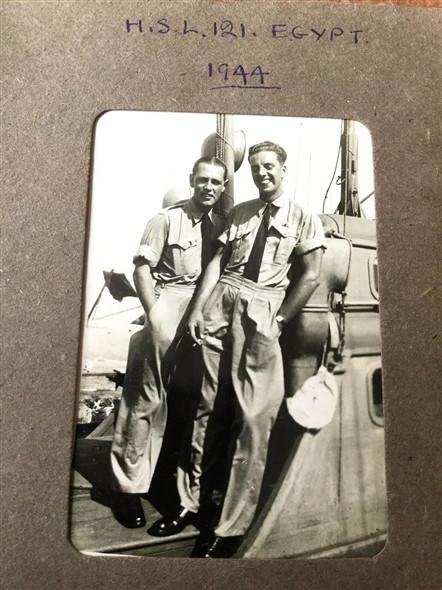Photo:On board H.S.L. 121 in Egypt 1944