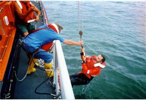 Photo:Winched aboard
