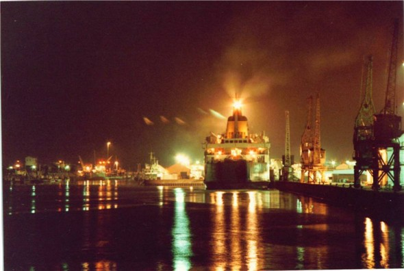Photo:MOORED UP AT NIGHT 1983