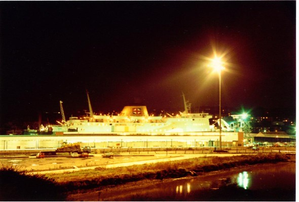 "Photo:FERRY ""SENLAC""? AT NIGHT 1983"
