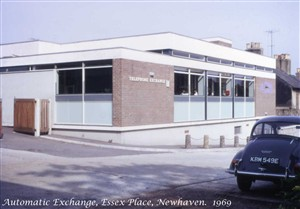 Photo:Newhaven Automatic Telephone Exchange in Essex Place, 1969.