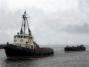 Photo:The 'day job' - Meeching and mud barge