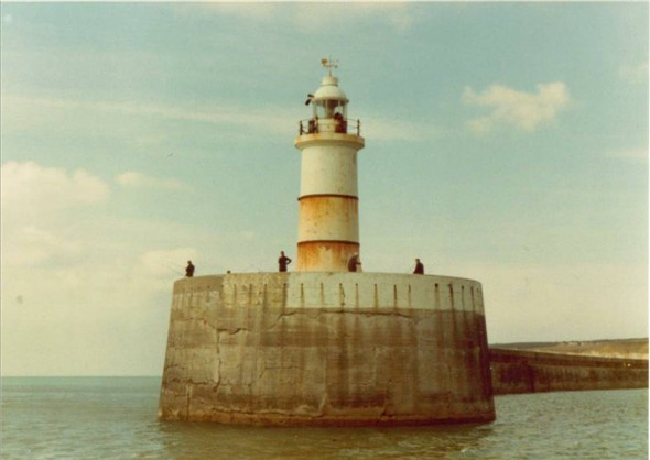 Photo:Breakwater lighthouse from the sea 1982