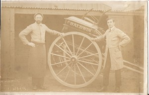 Photo:Alfred with another cart & unidentified person
