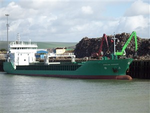 Photo:Arklow Ranger unloading along the East Quay - April 2008