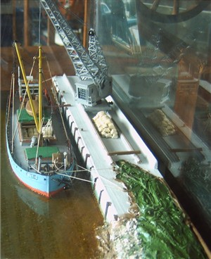 Photo:Model of MV Celtic at Asham Quay