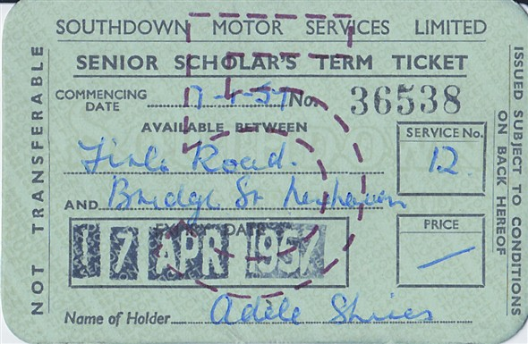 Photo:Southdown Senior Scholars Term Ticket