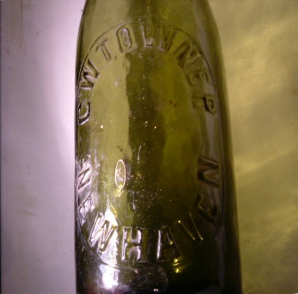 Photo:Old Bottle advertising C. W. Towner Ales