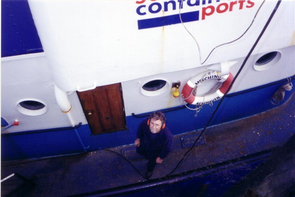 Photo:Chief Engineer Charlie Hutchings on Meeching taken 17/01/2000