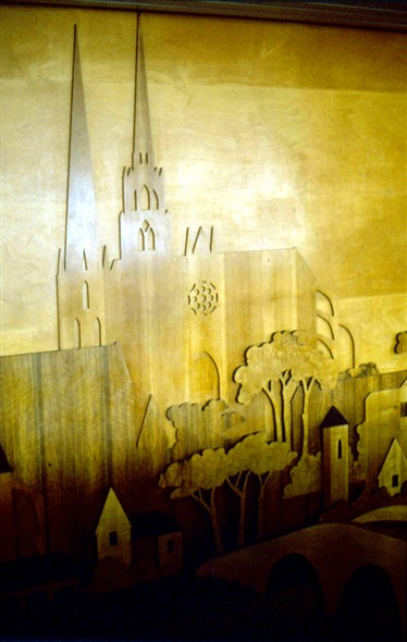 Photo:Woodcut of Chartres Cathedral
