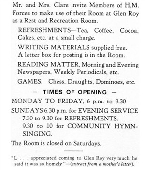 Photo:Glen Roy Sunday School Room cum Forces Rest & Recreation Room, Station Road, Newhaven.