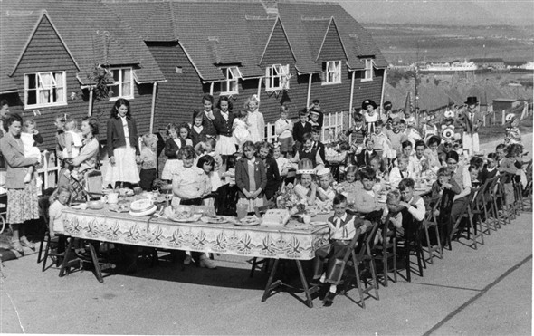 Photo:Coronation Street Party at Southdown Road. 1953.