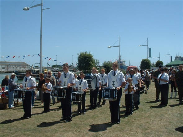 Photo:The sun shone and the band entertained us