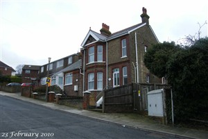 Photo:Glen Roy Sunday School Room cum Forces Rest & Recreation Room, Station Road, Newhaven, in 2010 long since converted into two dwellings.