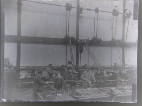 Photo:Staff in Marine Workshops