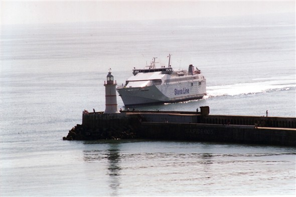 Photo: Illustrative image for the 'FERRY APPROACHING NEWHAVEN HARBOUR' page