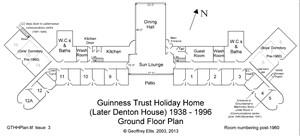 Photo:Post-1960 Ground Floor Plan showing WWII additions