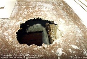 Photo:It was like re-opening Tutankhamen's Tomb...      The camera does not lie. That floor was only 1 inch thick!