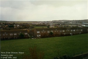 Photo:View south from GTHH in 1993. Before 1950 it was just lush green pasture all the way to Seaford Bay.