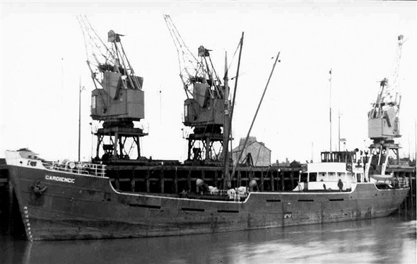 "Photo:"" Gardience "" built 1948 of London & Rochester Shipping Co"