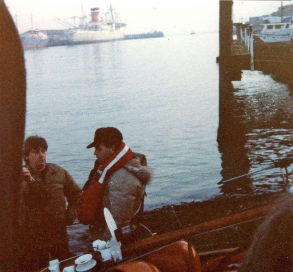 Photo:Gary Numan visits Newhaven Harbour