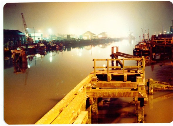 Photo:Harbour at night