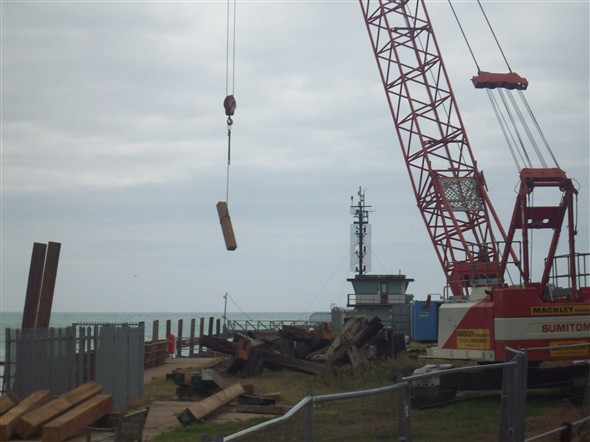 Photo:Removing the excess wood - 2008
