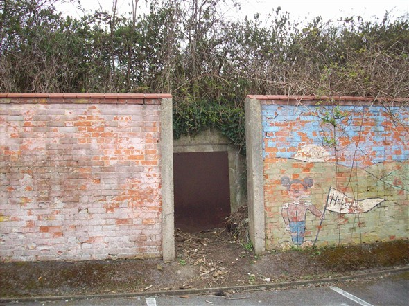 Photo:2nd Entrance to the Air raid Shelter - April 2013