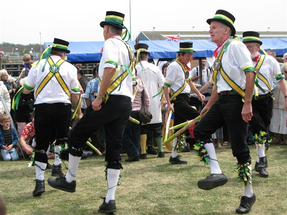 Photo:Visiting Morris Dancers add a traditional element