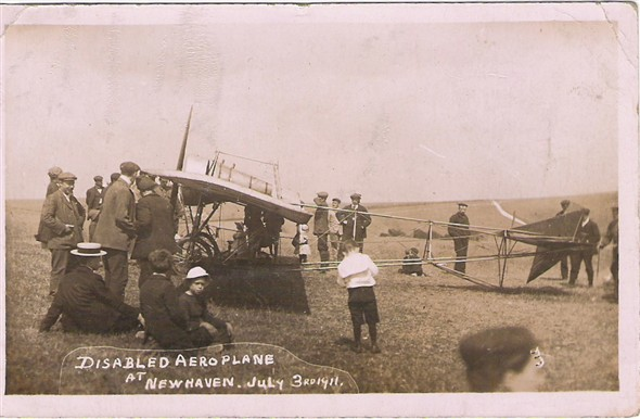 Photo: Illustrative image for the 'DISABLED AEROPLANE AT NEWHAVEN' page