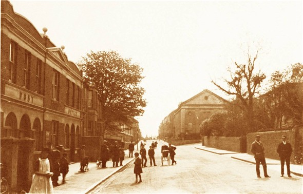 Photo:MEECHING ROAD FROM HIGH STREET - CIRCA 1910