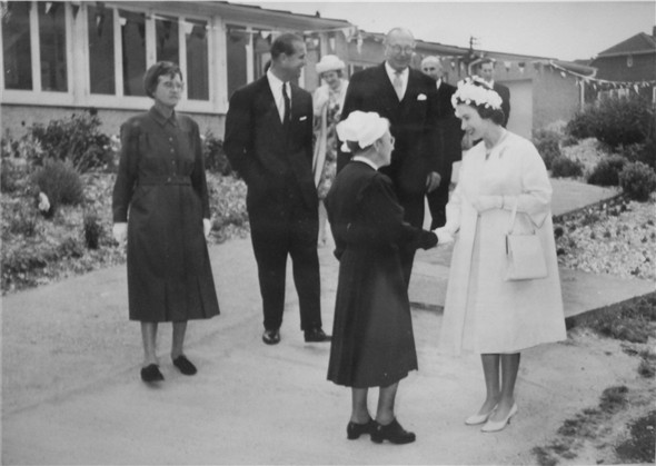 Photo:Muriel Powell meets the Queen - c1962