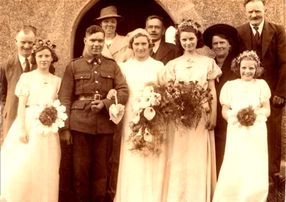 Photo:Marriage of Lillian Holder 11th April 1942