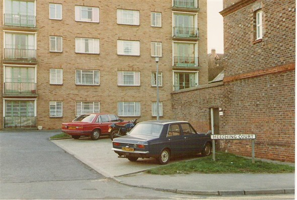 Photo:Meeching Court Flats, 1984