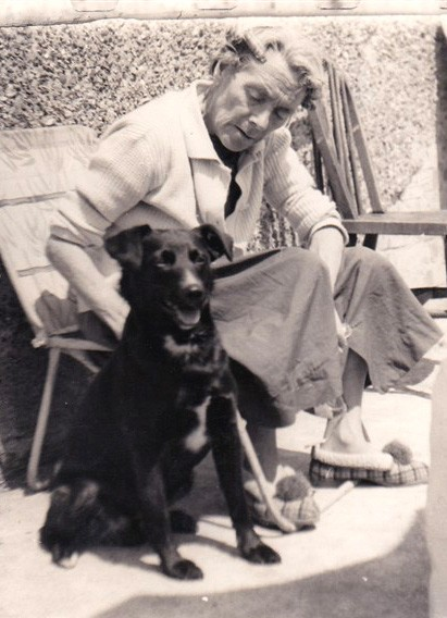 Photo:Nan pictured with her dog.