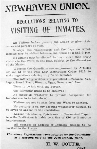 Photo:Notice to Visitors, 1914