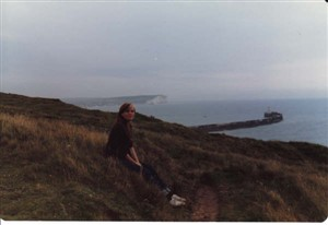 Photo:Nina on the clifftop