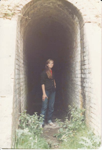 Photo:Nina in one of the tunnels