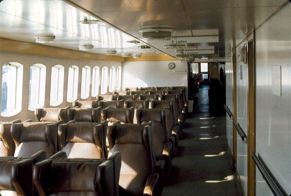 Photo:Normannia - re-fitted side lounge awaiting passengers