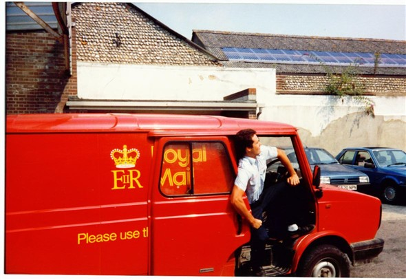 Photo:LDV Van and Laurie Stonehouse - 1989