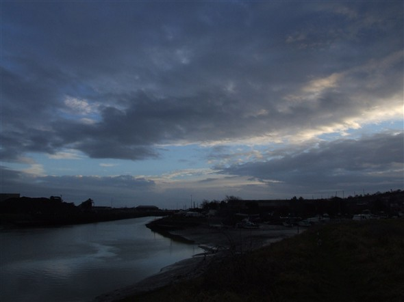 Photo:View of River Ouse towards Newhaven